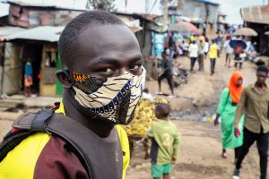 PRESIDENT URGES USE OF FACE MASKS IN THE LOCK DOWN.